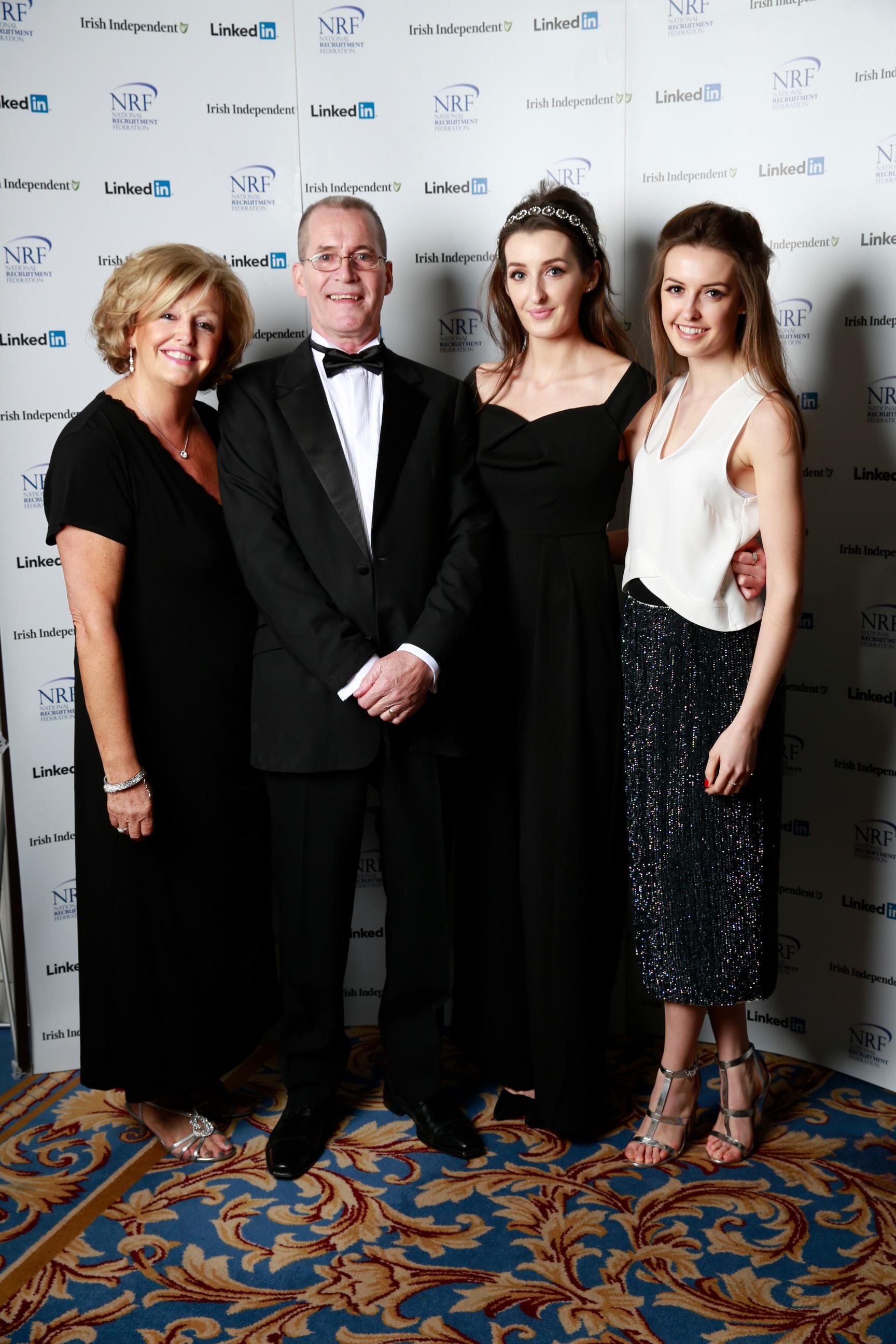 Barbara McGrath Tony Healy Olivia Keating and Ellen Keating at the NRF Awards